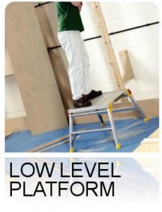 low level platform Ladder
