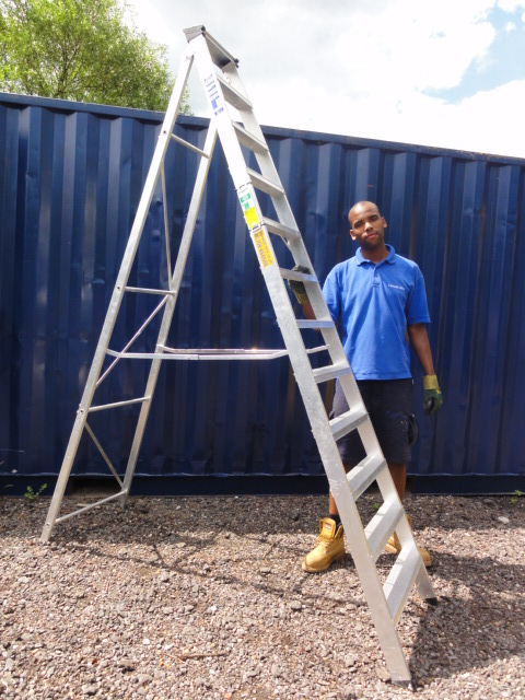 12 TREAD STEP LADDER HIRE
