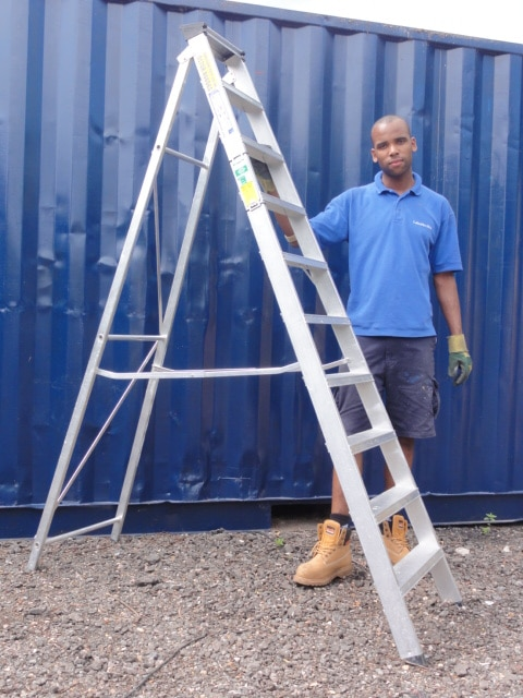 10 TREAD STEP LADDER HIRE