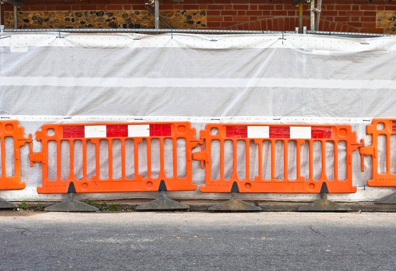 Plastic Safety Barrier Hire