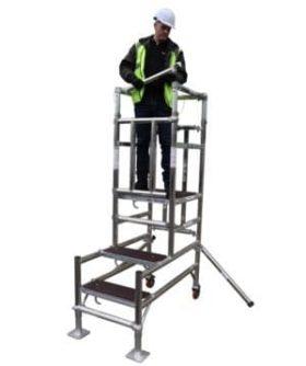 Mark 1 Podium Steps Hire | 1.2m Platform