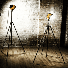 Single LED Tripod Floodlight Hire